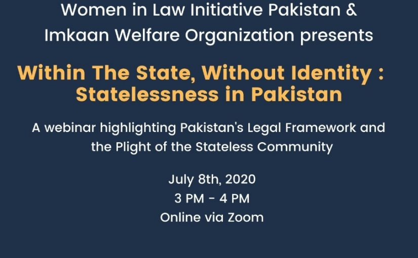 WITHIN THE STATE, WITHOUT IDENTITY: STATELESSNESS IN PAKISTAN